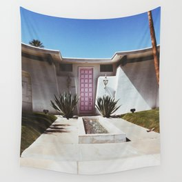 The Pink Door - Palm Springs Wall Tapestry
