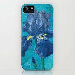 Purple Iris Artwork iPhone Case