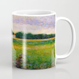 Landscape of the Ile de France Post-Impressionism landscape Oil Painting Countryside Cottages Farm Coffee Mug