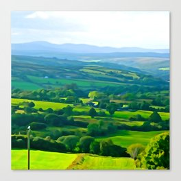 Fifty Shades of Green Canvas Print