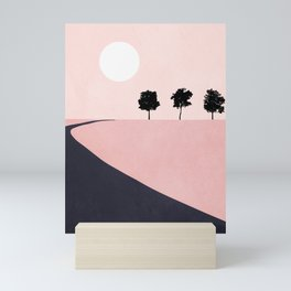 Pink Sunny Field II Mini Art Print