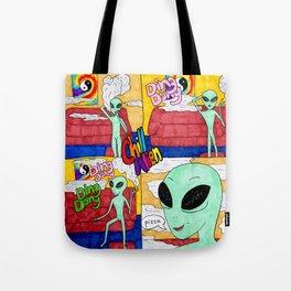 Chill Alien Tote Bag