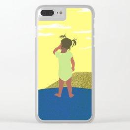 Scratch 긁적임 Clear iPhone Case