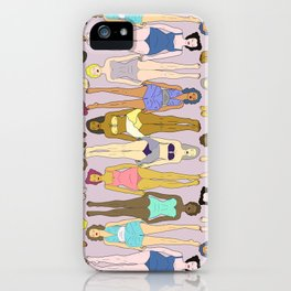 Sunbathers - Retro Female Swimmers iPhone Case