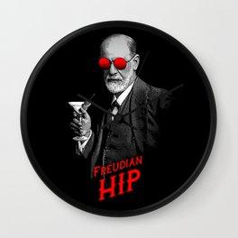 Hipster Psychologist Sigmund Freud Wall Clock