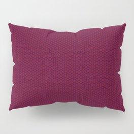 Dark Red Mosaic Pillow Sham