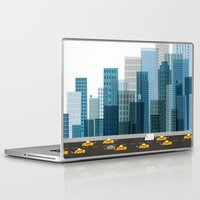 cityscape Laptop & iPad Skins featuring Cityscape by Keith Negley