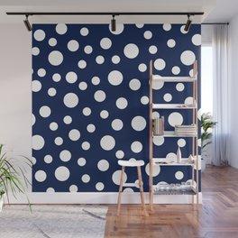 Crazy Dots: Navy Wall Mural