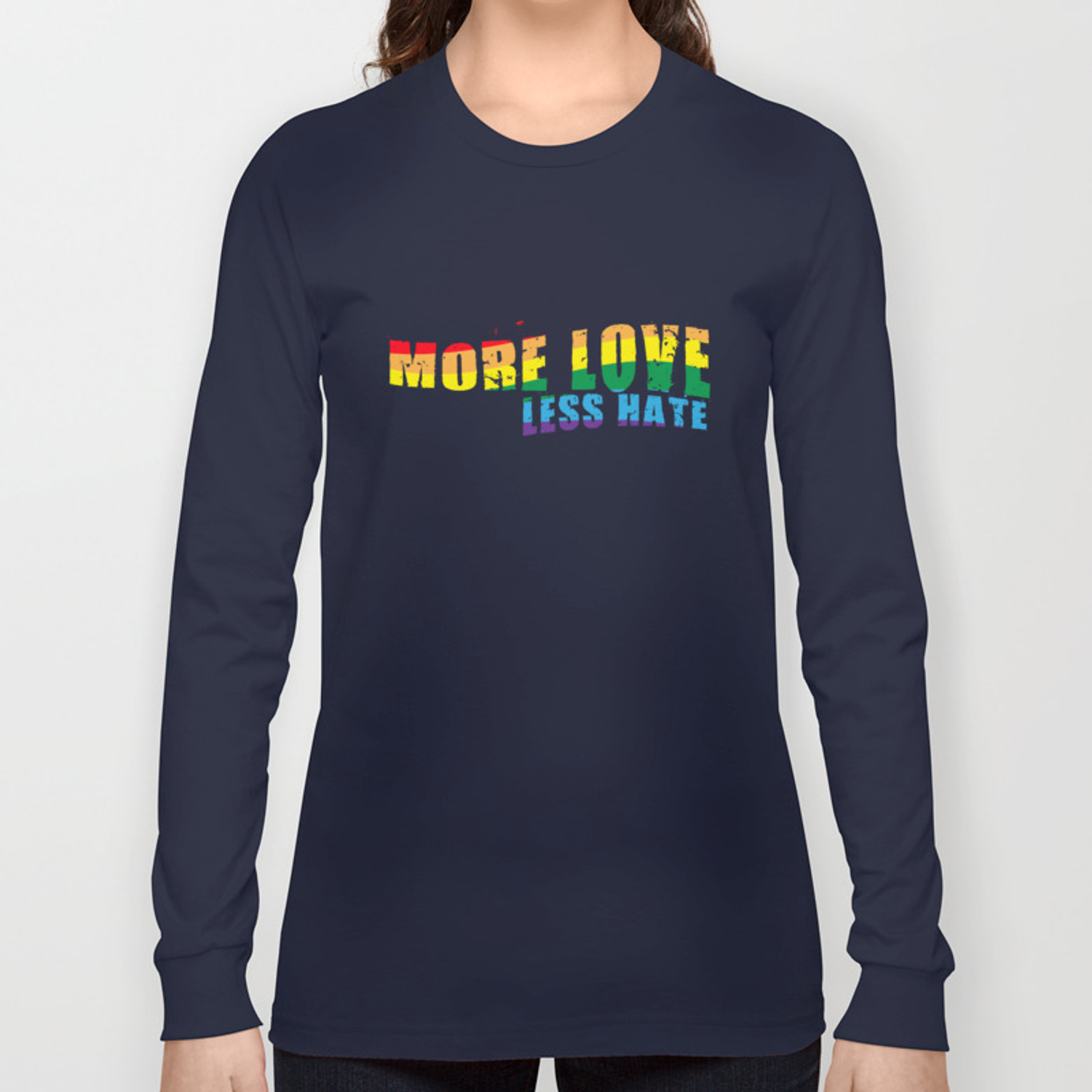 11bde49ac LGBT T-Shirt Funny Lesbian Shirts LGBT Pride Clothing Long Sleeve T-shirt  by amatees | Society6