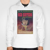 "book cover Hoodies featuring ""Red Sisters"" Book Cover by 7 Hells: Retro Horror art of Bill Rude"