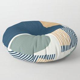Cool Color Pallette Pattern Floor Pillow