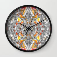 blueprint Wall Clocks featuring Blueprint - multi by Etch by Design