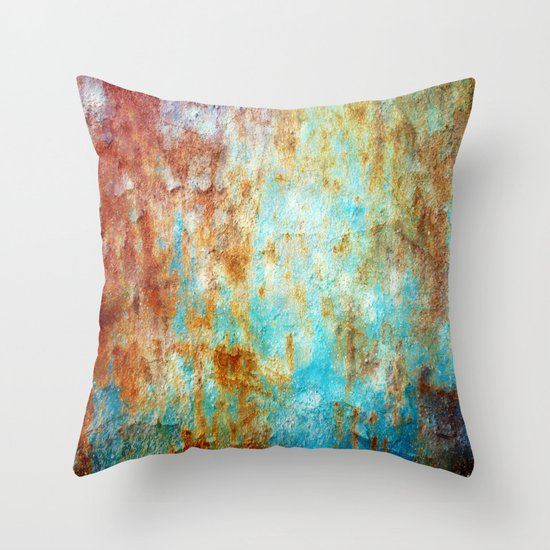 Grunge 'n' Rust Throw Pillow
