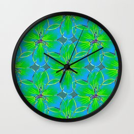 Flower Sketch 5 Wall Clock