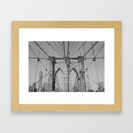 Brooklyn Bridge - B&W  Framed Art Print