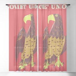 Soviet Union Sheer Curtain