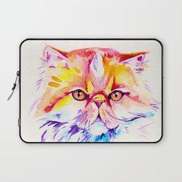 Persian Cat Watercolor Painting Laptop Sleeve