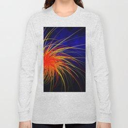 Blue Fire Spiral Long Sleeve T-shirt
