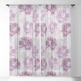 Zephyr roses Sheer Curtain