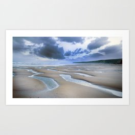 Silence of the ocean Art Print