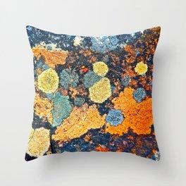 Lichen Art Throw Pillow