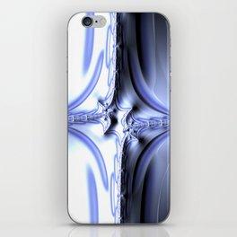 Blue Diamond Abstract Fractal iPhone Skin