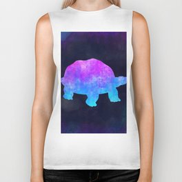 TORTOISE IN SPACE // Animal Graphic Art // Watercolor Canvas Painting // Modern Minimal Cute Biker Tank