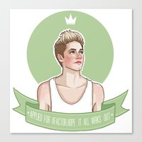 niall Canvas Prints featuring Niall Horan by vulcains