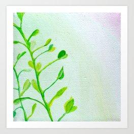 Green Vines Art Print