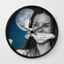 .The Day the Queen Was Born   Kate Moss. Wall Clock