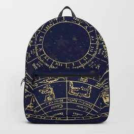Metallic Gold Vintage Star Map Backpack