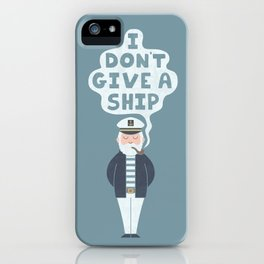 Indifferent Captain iPhone Case