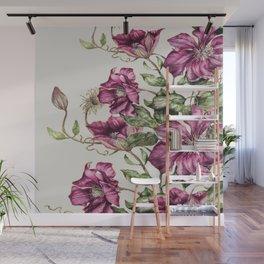 Purple Flowers 3 Wall Mural