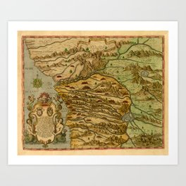Map Of The Congo 1597 Art Print