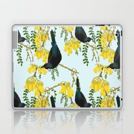 Tuis in the Kowhai Flowers Laptop & iPad Skin