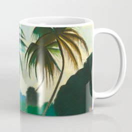 Tropical Scene with Palms and Flowers by Joseph Stella Coffee Mug