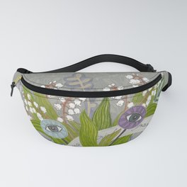 Mystical Flowers Fanny Pack