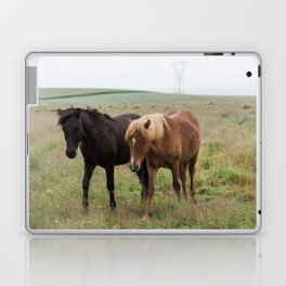 Icelandic horses - nature photography Laptop & iPad Skin