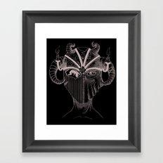 Masque du Feu (Fire Mask) Framed Art Print