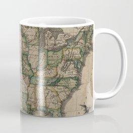 Vintage Map of The United States (1823) Coffee Mug
