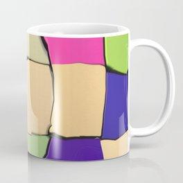 Distorted Color Cubes Coffee Mug