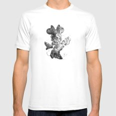Minnie Mouse, black and white MEDIUM Mens Fitted Tee White