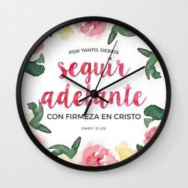 Seguir Adelante {Flores en Acuarela} Wall Clock