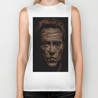 christopher walken Biker Tanks featuring Walken by Blake Byers