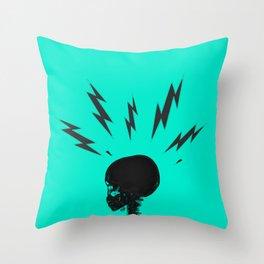Brain Zaps - Blue Throw Pillow