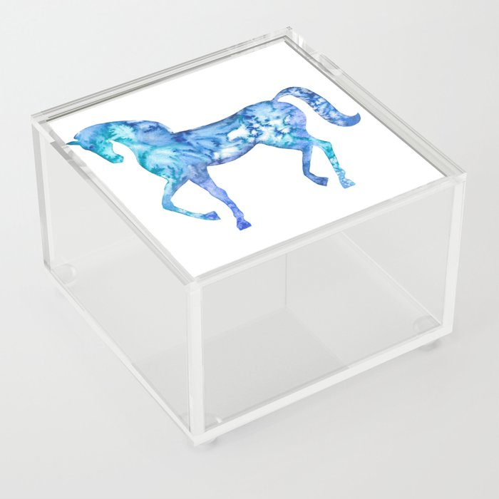 Blue horse in my dreams Acrylic Box