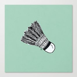 WHO WANTS TO PLAY BADMINTON? - MINT Canvas Print