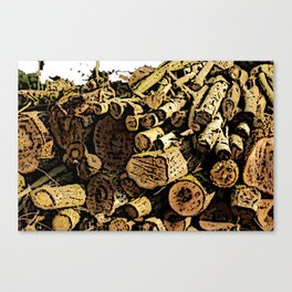 Wood Pile bywhacky Canvas Print