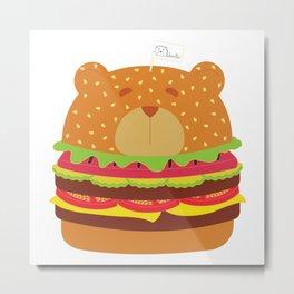 Oso Hamburguesa (Burger Bear) Metal Print