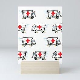 Ambulance pattern Mini Art Print